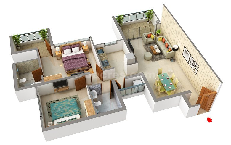 2 BHK broadway by paranjapee